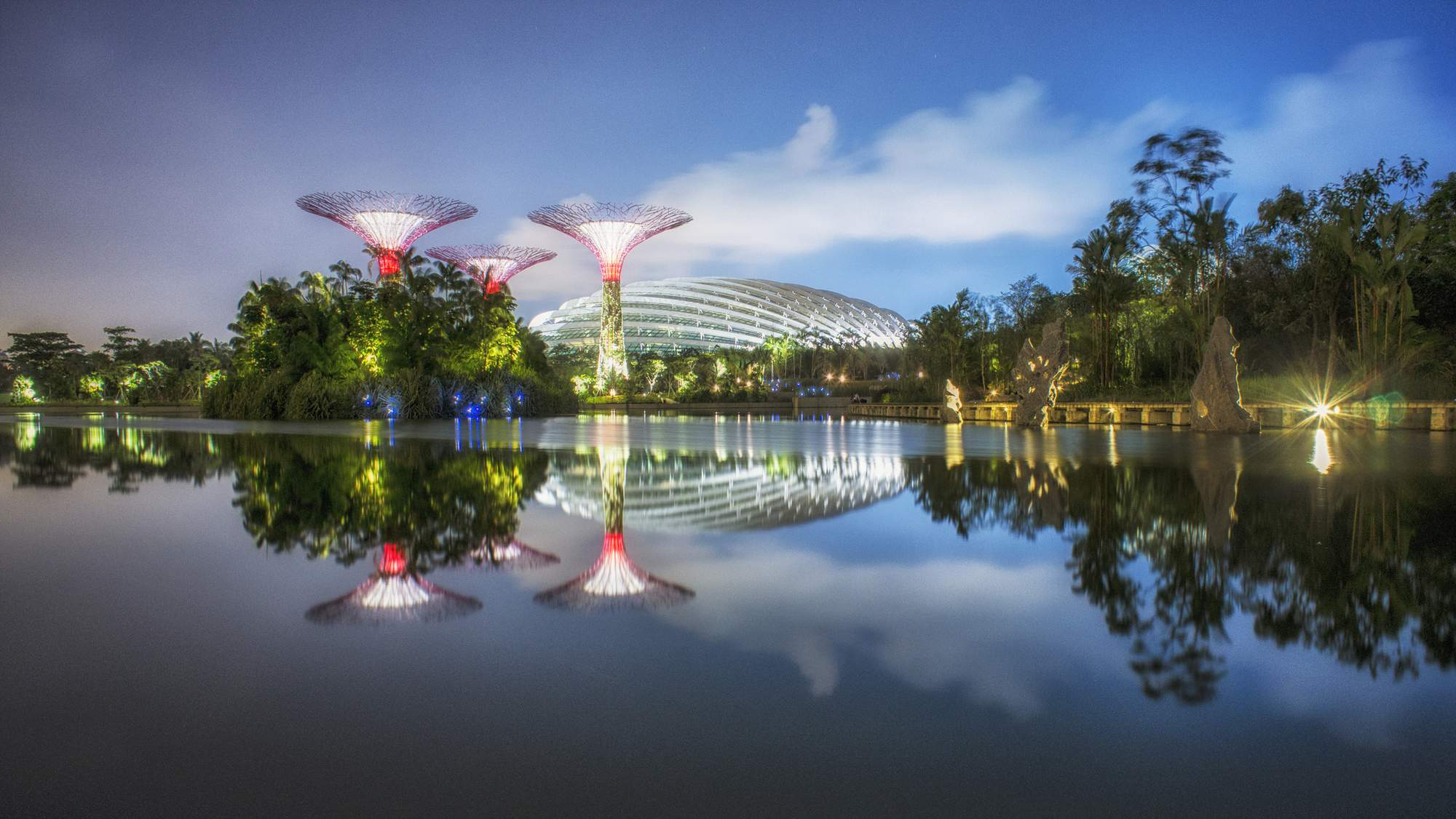 Gardens by the Bay in the heart of Marina Bay, Singapore