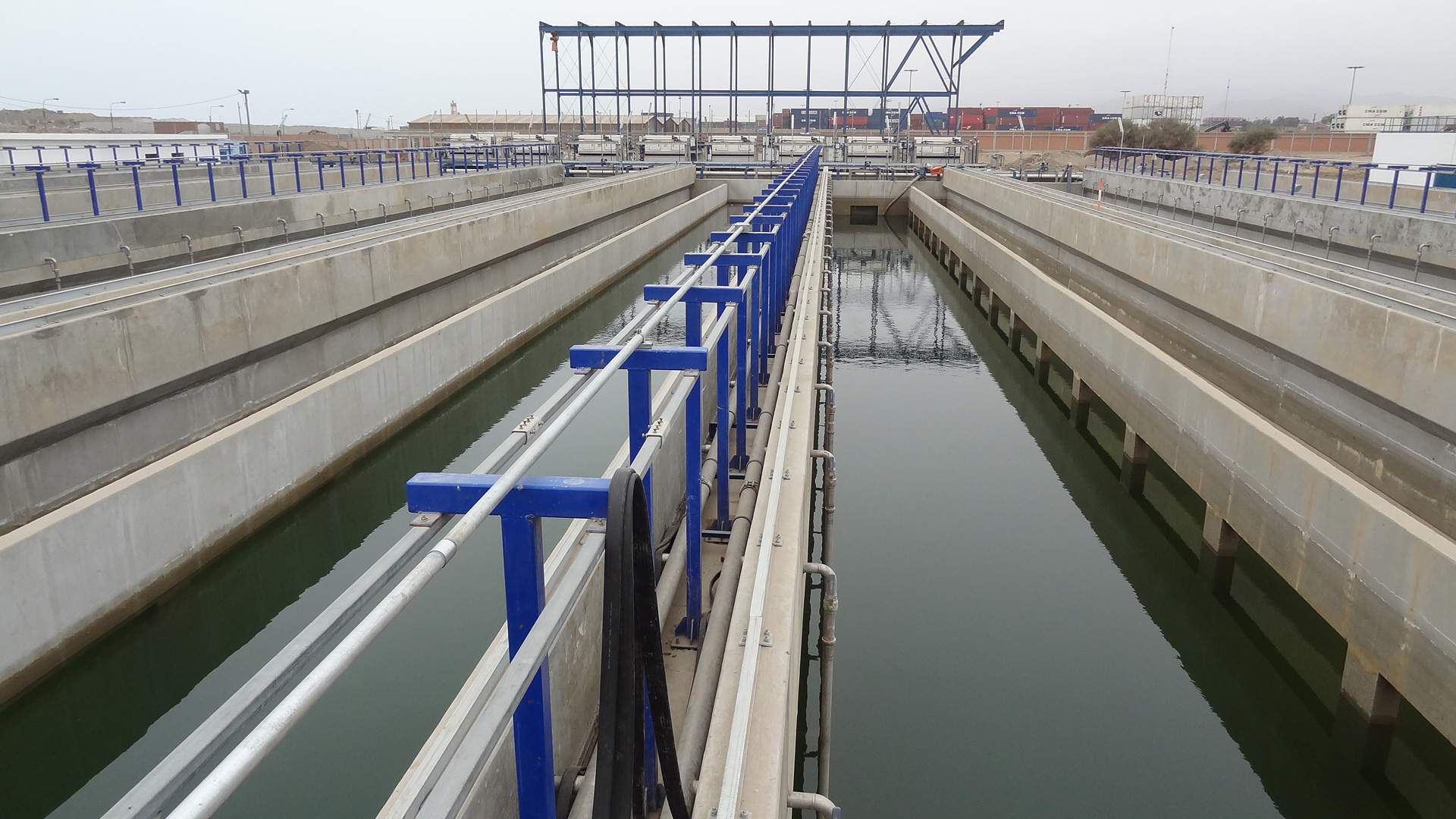 The Callao Wastewater Treatment Plant just west of Lima, Peru