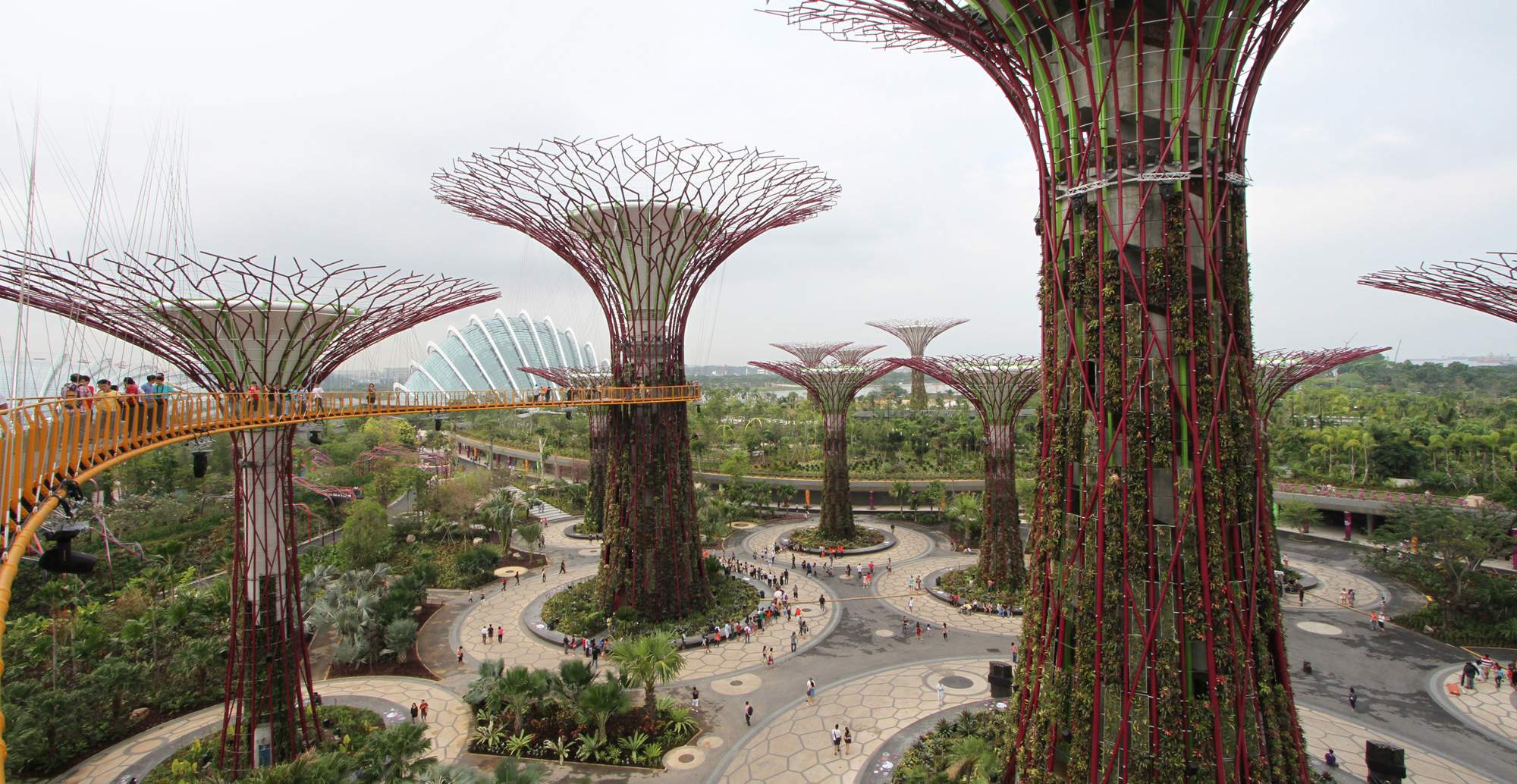 Gardens by the Bay at Marina Bay in Singapore